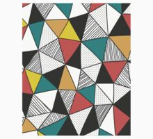 Triangles background One Piece - Long Sleeve