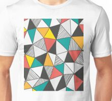 Triangles background Unisex T-Shirt