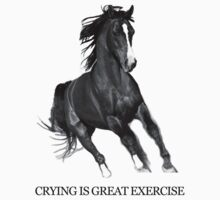 Crying Is Best Exercise - Horse Ebooks by jearing