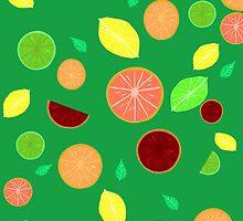Colorful citrus background (Green) by GottyKoby