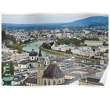 Salzburg from Hohensalzburg Castle Poster