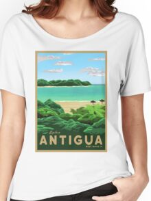 Travel Poster - antigua Women's Relaxed Fit T-Shirt