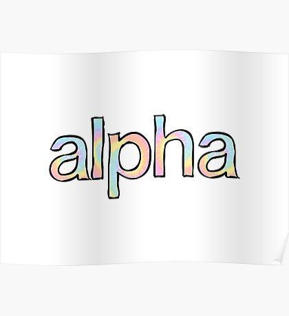 Alpha Tie Dye Poster