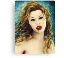 Portrait of a Vampire Canvas Print