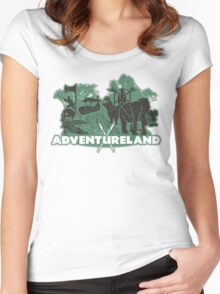 ADVENTURE in this LAND! Women's Fitted Scoop T-Shirt