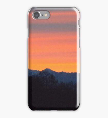 Burnt Orange Sequim Sunset iPhone Case/Skin