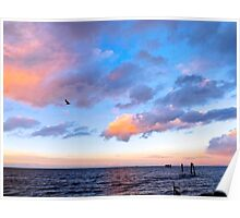 Jeweled Clouds in Puget Sound Poster