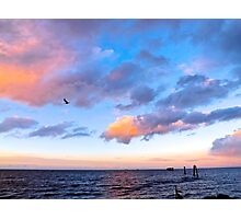 Jeweled Clouds in Puget Sound Photographic Print