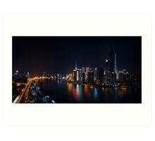 One Night in Shanghai Art Print