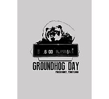 Groundhog Day  Alarm Clock  Punxsutawney T-shirt Photographic Print