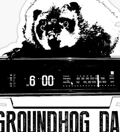 Groundhog Day  Alarm Clock  Punxsutawney T-shirt Sticker
