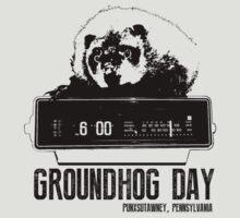 Groundhog Day  Alarm Clock  Punxsutawney T-shirt by theshirtnerd