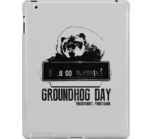 Groundhog Day  Alarm Clock  Punxsutawney T-shirt iPad Case/Skin