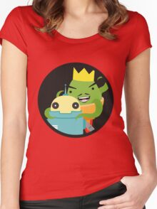 Droid gets ambushed! Women's Fitted Scoop T-Shirt