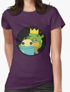 Droid gets ambushed! Womens Fitted T-Shirt