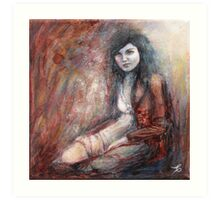 Reach my heart with tenderness... Art Print