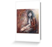 Reach my heart with tenderness... Greeting Card