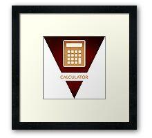 symbols: the calculator Framed Print