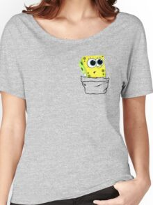 Spongebob in the pocket! Women's Relaxed Fit T-Shirt
