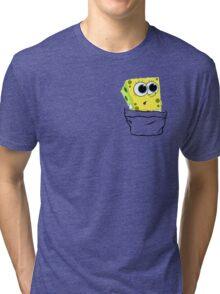 Spongebob in the pocket! Tri-blend T-Shirt