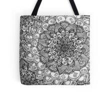 Shades of Grey - mono floral doodle Tote Bag