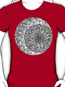 Shades of Grey - mono floral doodle T-Shirt