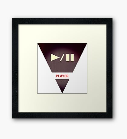 symbols: the player Framed Print