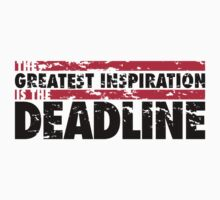 The greatest inspiration is the deadline by nektarinchen