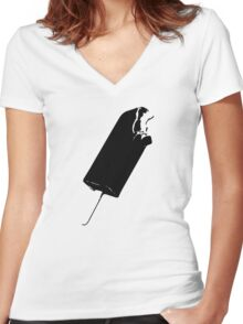 Popsicle, ice cream Women's Fitted V-Neck T-Shirt