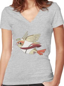 aaabaaajss - Bird Jesus Women's Fitted V-Neck T-Shirt