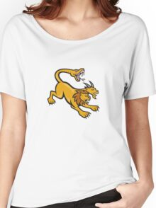 Chimera Attacking Side Cartoon Women's Relaxed Fit T-Shirt