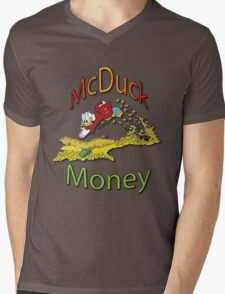 Scrooge McDuck Mens V-Neck T-Shirt