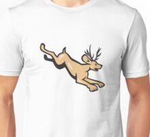 Jackalope Jumping Side Cartoon Unisex T-Shirt