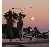 full moon over Denham Photographic Print