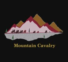 Mountain Cavalry (Pink on Mustard) by Prashant Gaurav