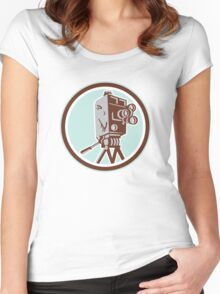 Vintage Movie Film Camera Retro Women's Fitted Scoop T-Shirt