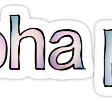 Alpha Phi Fade Sticker