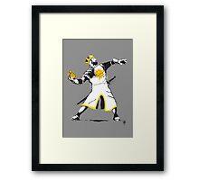 Banksy Python 1-2-5 Framed Print