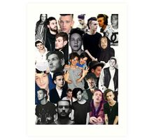 The 1975 Collage Art Print