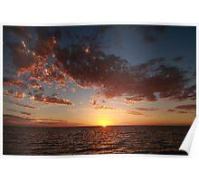 sunset in Shark Bay Poster