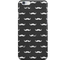 Chalkboard Mustache Pattern iPhone Case/Skin