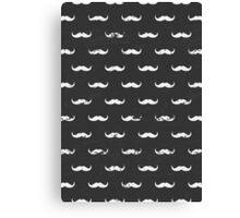 Chalkboard Mustache Pattern Canvas Print