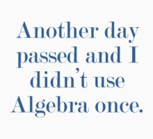 Another Day Passed And I Didn't Use Algebra Once by BrightDesign