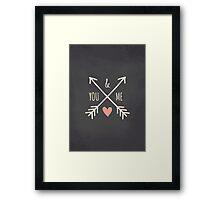 Chalkboard Arrows & Heart Framed Print