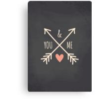 Chalkboard Arrows & Heart Canvas Print