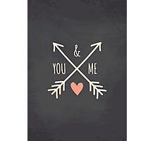 Chalkboard Arrows & Heart Photographic Print