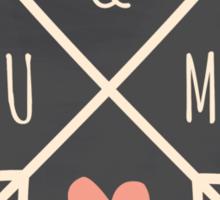 Chalkboard Arrows & Heart Sticker