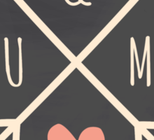 Chalkboard Arrows & Heart Sticker