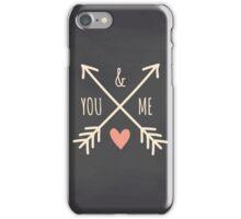 Chalkboard Arrows & Heart iPhone Case/Skin