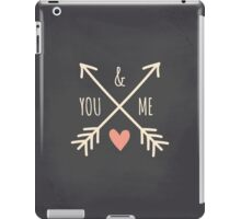 Chalkboard Arrows & Heart iPad Case/Skin
